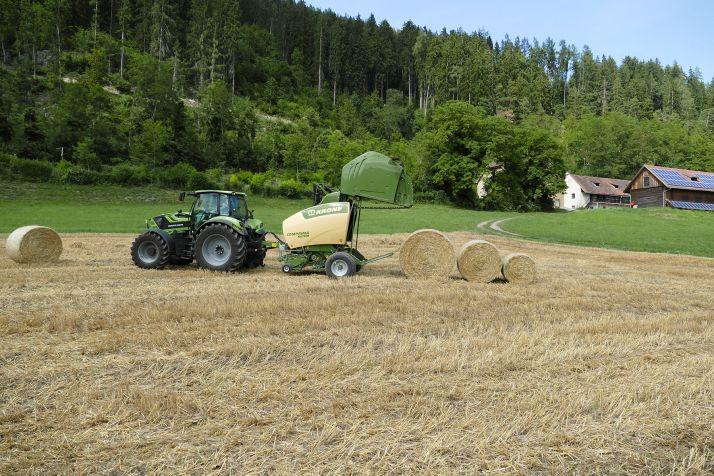 Krone présentera à l'Agritechnica la presse Comprima sous un nouveau look. © Krone