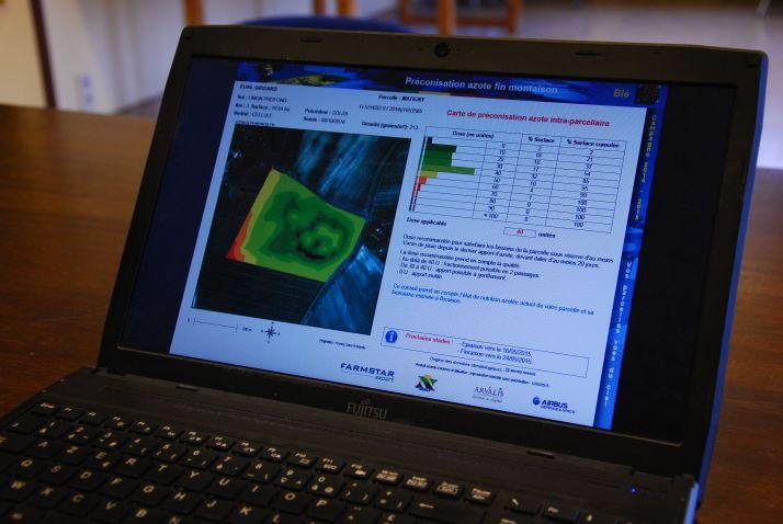 À peine 5 % des 700000 ha photographiés par les services de Farmstar sont sujets à la modulation intraparcellaire de la dose d'azote. © M. Lecourtier/Pixel image