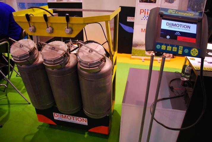 Piix, système d'injection directe de Diimotion peut gérer jusqu'à cinq produits liquides en même temps ainsi que des poudres. © M. Lecourtier/Pixel image