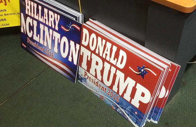 J-1 pour les élections présidentielles américaines. © H.Sauvage/Pixel Image