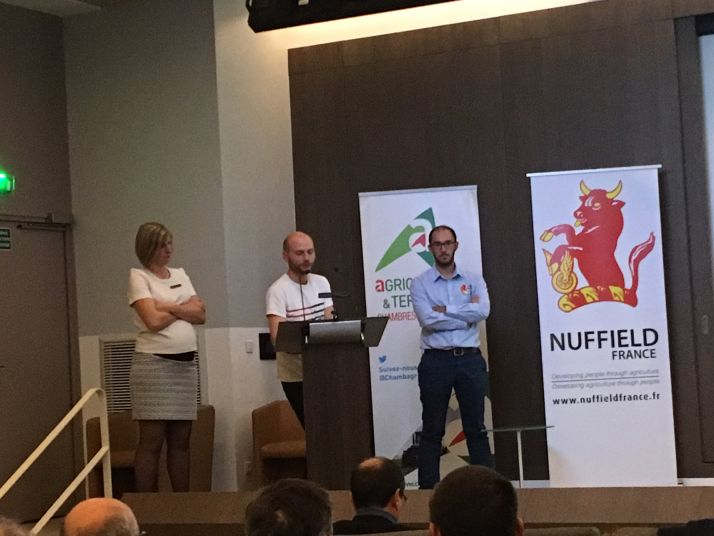 De gauche à droite, Laure Figeureu-Bidaud, Sylvain Haurat et Maxime Moinard, boursiers Nuffield 2016
