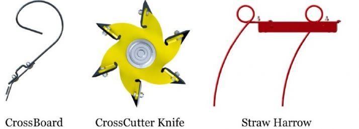 Les outils avant sont interchangeables.
