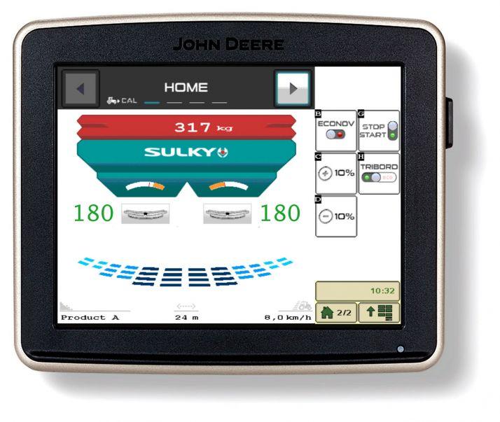 Les épandeurs Sulky X40 et X50 sont désormais compatible Isobus. Photo: Sulky