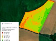 Le module azote sur blé considère l'objectif de rendement pris en compte dans le calcul du plan prévisionnel de fumure et le potentiel de rendement en place.