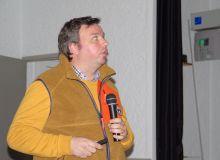 Invité par Base, Nicolas Lefèbvre gérant 1 600 ha bio en Roumanie est venu présenté l'agriculture roumaine en France.