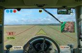 La société Agrotronix a mis au point une interface de Vision Tête Haute. Photo: Agrotronix