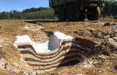 Tassement du sol par une benne. Crédit photo : Mathieu Lecourtier/Média&Agriculture